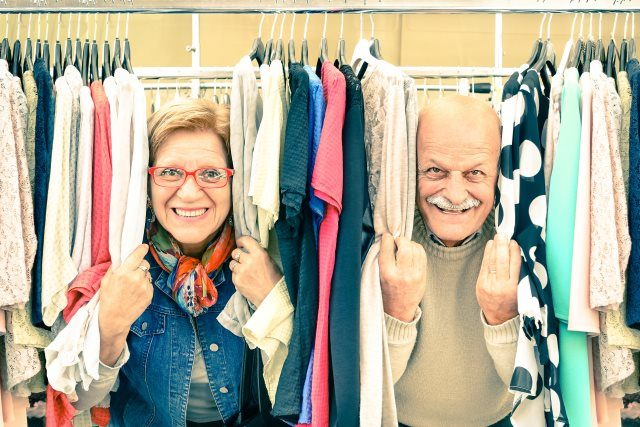 Seniors Out Shopping